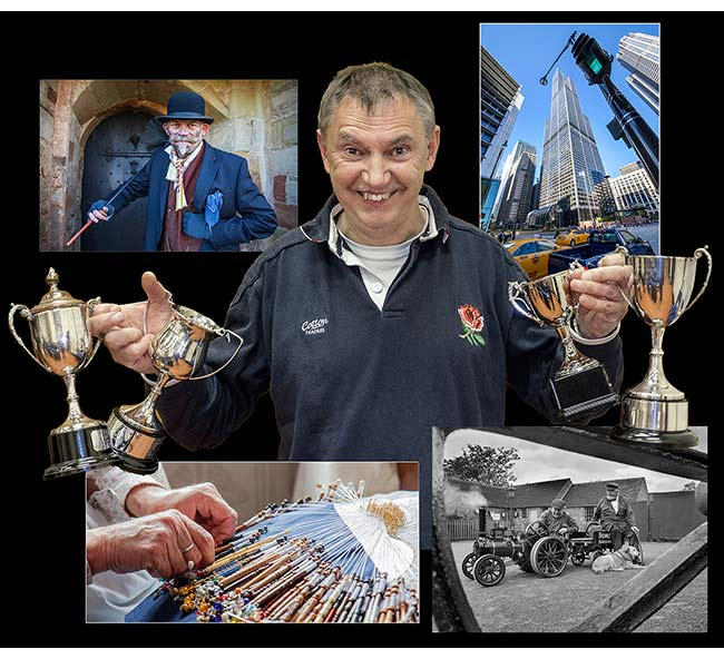Peter Robinson was a multi-award winner this season and is seen here surrounded by his most successful photographs
