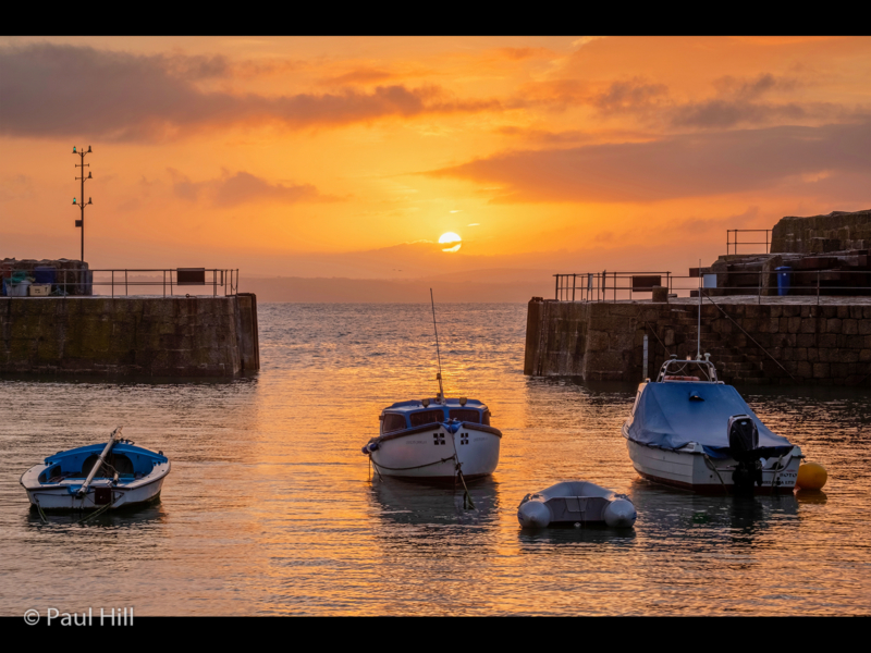 Paul Hill – Sunrise at Mousehole Harbour-2